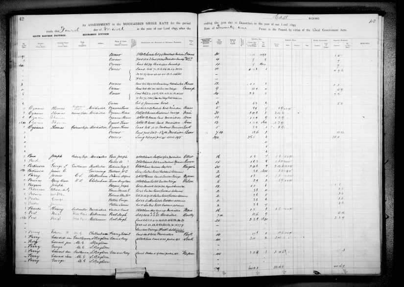 Alfred Docwra 1895 rate book