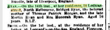 Bridget Ryan death notice