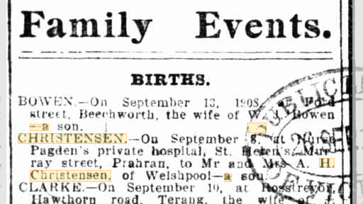 Births Christensen