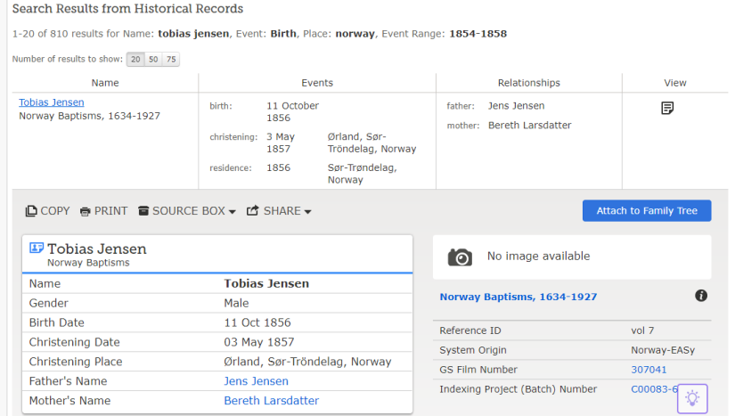 Tobias Jensen FamilySearch