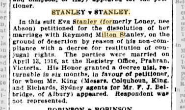 Stanley v Stanley