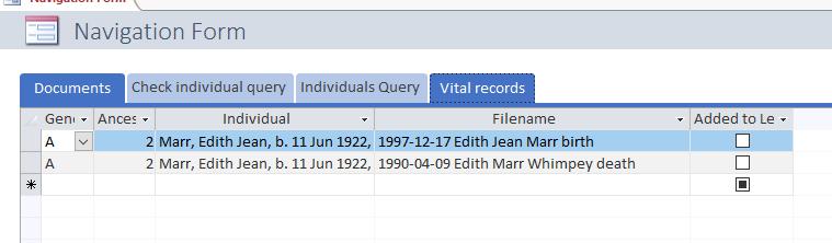 vital records
