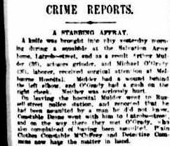 Crime Reports A Stabbing Affray