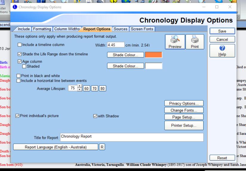 chronology modified