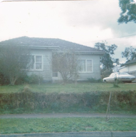 House at Mitcham and dad's car