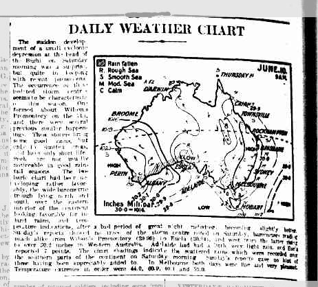 Daily Weather Chart 12 Jun 1922