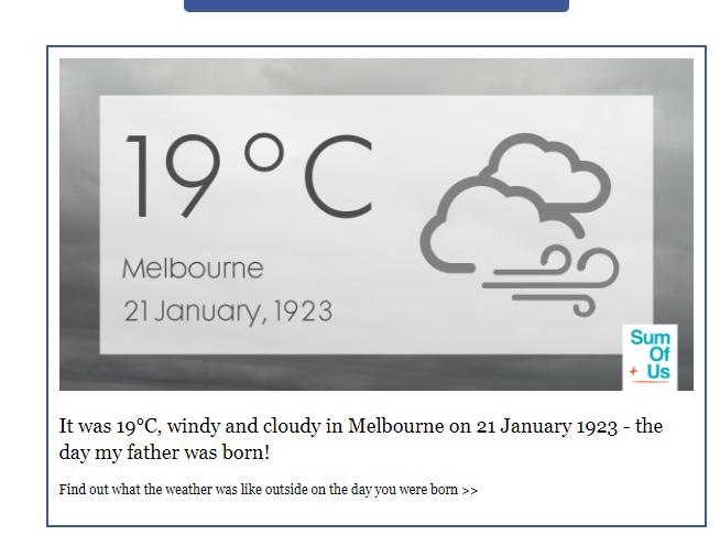 Weather 21 Jan 1923