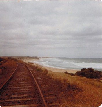 Railway line at Kilcunda and Surf Beach