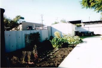 Dad's vegetable garden at Wonthaggi