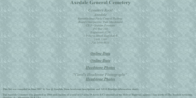 Axedale General Cemetery