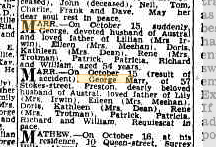 George Marr death notices