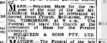 George Marr funeral notice