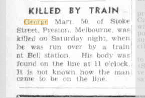 Killed by train