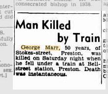 Man Killed by Train