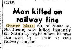 Man killed on railway line