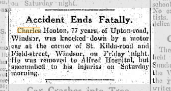 Accident Ends Fatally