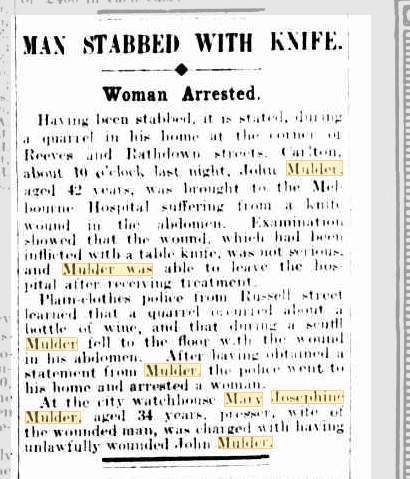 Man Stabbed with Knife