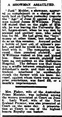 A Showman Assaulted