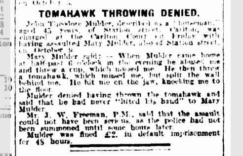 Tomahawk Throwing Denied
