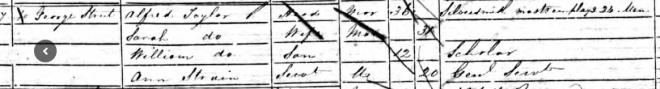 Alfred & Sarah Taylor 1851 census