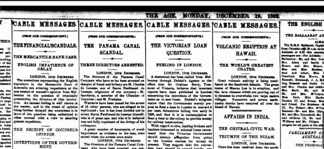 Headlines 19 Dec 1892