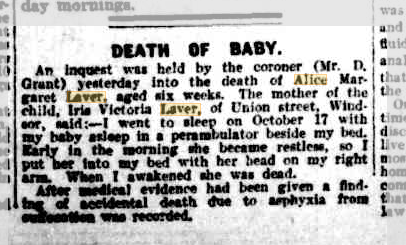 Death of Baby